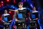 Spirit Drum And Bugle Corps Ensemble Play At Microsoft Convergence