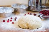 Dough, Flour And Cranberries