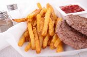 french fries and beef