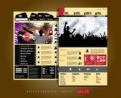 Website design template, music event vector.