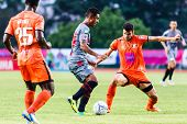 Sisaket Thailand-june 29: Leandro Tatu Of Bangkok Utd. (grey) In Action During Thai Premier League B