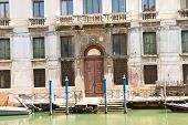 Entrance To The Courthouse In Venice, Italy