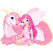 Beautiful Magic Dragon and Beautiful Fairy
