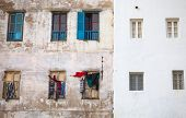 Old Living House Wall In Medina Of Tangier, Morocco