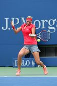 Grand Slam champion Petra Kvitova during first round match at US Open 2013