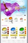 vector website template paint shop