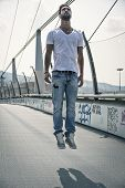 image of levitation  - Handsome young man  - JPG