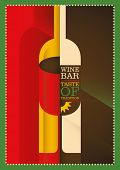 Illustrated wine poster design. Vector illustration.