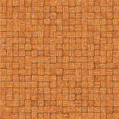 Abstract Mosaic Tile Orange Brick Pattern