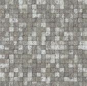 abstract mosaic tile gray white brick pattern