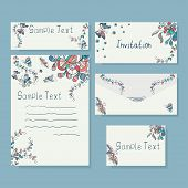 Templates of  invitation card and letter