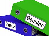 Genuine Fake Indicates Authentic Guaranteed And True
