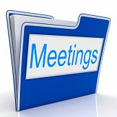 Meetings File Means Gathering Administration And Binder