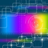 Colorful Background Means Hi Tech And Abstract