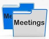Meetings Files Shows Conference Organization And Folders