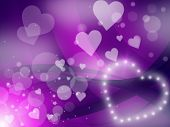 Glow Hearts Indicates Valentine Day And Abstract