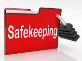 Security Safekeeping Represents Restricted Encryption And Organization