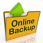 Upload Backup Indicates World Wide Web And Archive