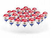 Balloons With Flag Of Paraguay