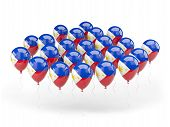 Balloons With Flag Of Philippines