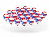 Balloons With Flag Of Puerto Rico