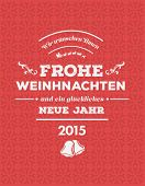 Digitally generated German seasons greetings vector