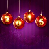 vector happy new year backgroound 2015