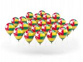Balloons With Flag Of Togo