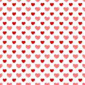 Seamless hand-drawn hearts Valentine