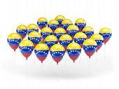 Balloons With Flag Of Venezuela