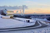 University of Alaska Fairbanks at Sunset