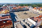 Main Square And Town Hall, Ceske Budejovice, Czech Republic