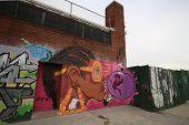 Mural art at East Williamsburg in Brooklyn