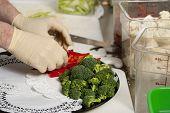 Preparing A Veggie Platter