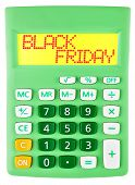 Calculator With Black Friday On Display