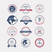 stock photo of barber  - Perfect set of barber and haircut logos - JPG