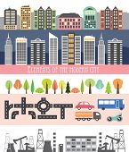 Different City Elements For Creating Your Own Map.