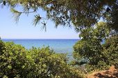 Visible horizon of the Aegean Sea.