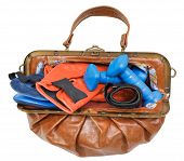 Female Handbag With Boxing Gloves And Dumbbells