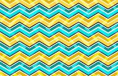 Yellow And Blue Zig Zag Seamless Pattern