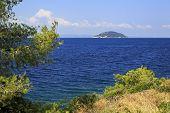 Beautiful Kelyfos Island in Aegean Sea.