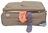 Suitcase With Fell Out Male Tie And Female Panties