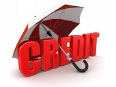 Credit under Umbrella (clipping path included)