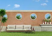 Garden With Sofa
