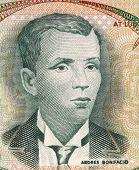PHILIPPINES - CIRCA 1969: Andres Bonifacio
