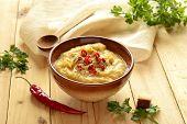 Cream soup of yellow peas