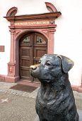 Sculpture of a Rottweiler in Rottweil