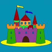 Illustration Of Isolated Cartoon Castle