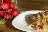 Couscous With Pomegranate And Walnuts