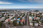 Reykjavik City Bird View